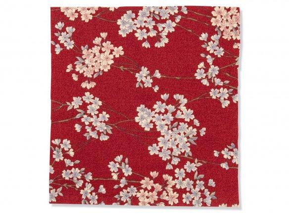 Japanese kimono fabric, Sakura Chirimen (blossoms)