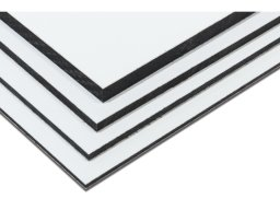 Dibond Alu/PE-Verbundplatte, weiß im Zuschnitt