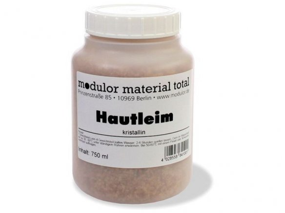 Modulor hide glue, crystalline