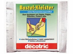 Craftwork paste glue, methyl cellulose