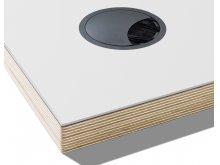 Kabeldurchlass für Linoleum Tischplatte