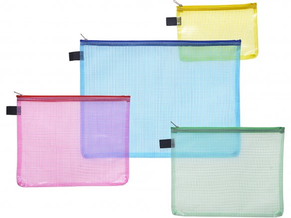 Zippered bag, coloured