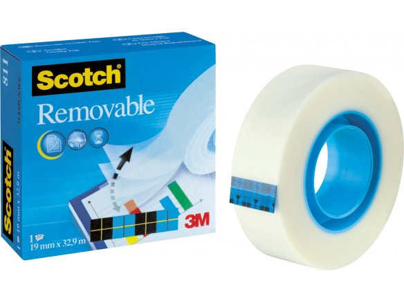 3M Scotch Magic Tape 811 (blu), removibile