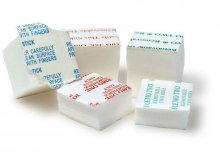 Double sided adhesive foam blocks, white