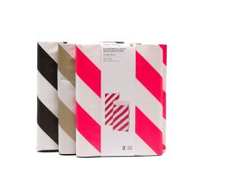 Paper Poetry flat bottom bag, striped, M