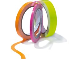 Coloured adhesive tape, neon colours, glossy