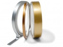 Metallic adhesive tape, coloured, glossy