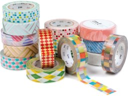 mt 1P Deco masking tape, patterned Washi adh. tape