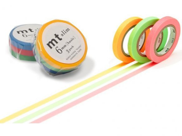 Mt Slim Masking Tape, Washi adhes. tape uni