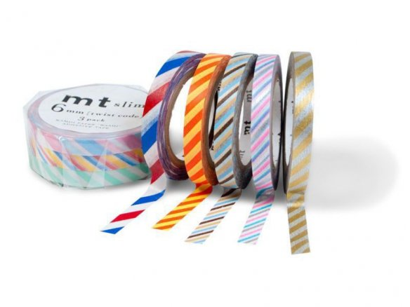 mt Slim (Washi) masking tape, patterned