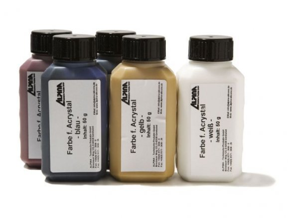 Pigments for Acrystal acrylic resin