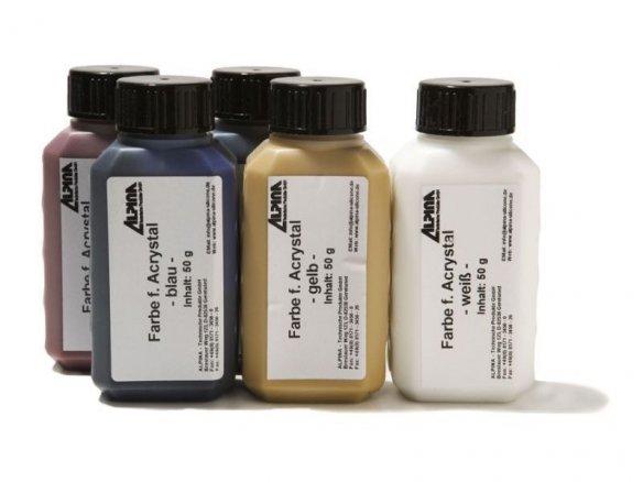 Farben für Acrystal Acryl Gieß-/Laminierharz