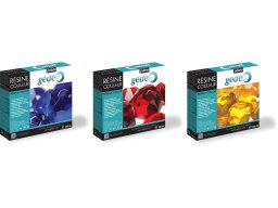 Gedeo crystal resin, transparent, coloured