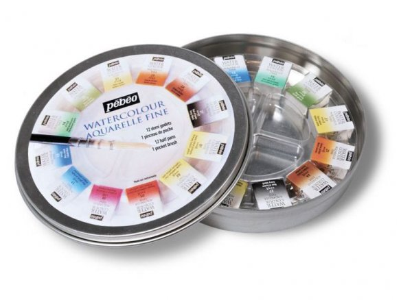 Pebeo Aquarelle watercolour paint, fine