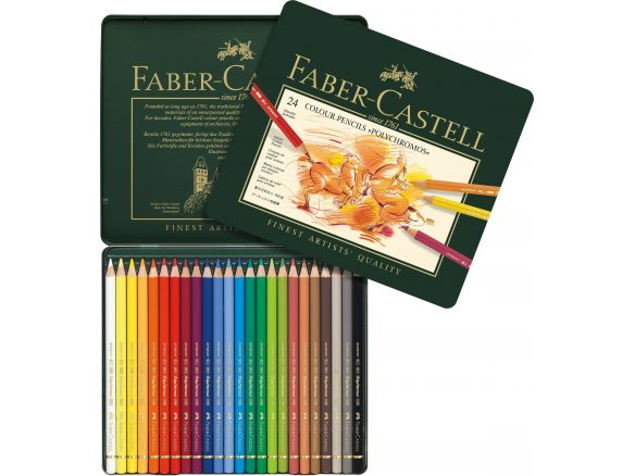 Faber Castell Polychromos coloured pencil, set of 24