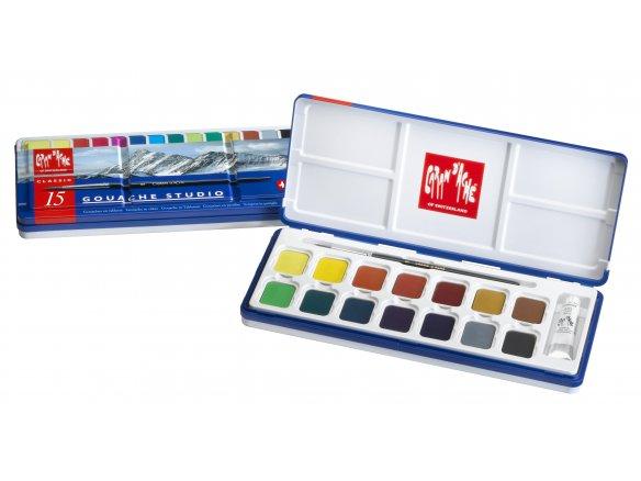Caran d'Ache Studio gouache paint, tablets