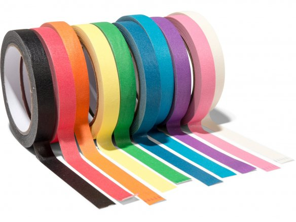 Design crepe tape for Tape Art, 15 mm