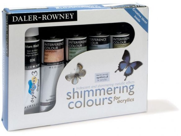 Daler-Rowney interference medium shimmering colour