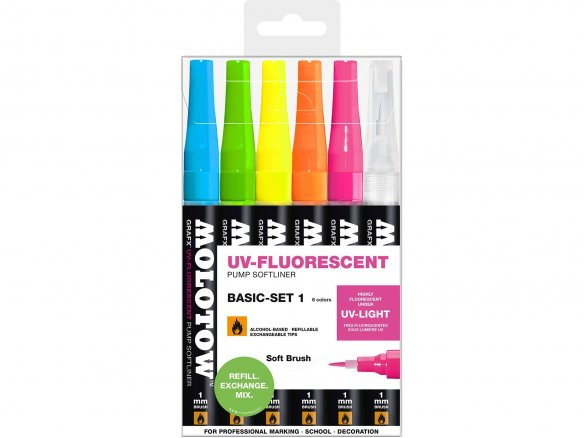 Molotow GRAFX UV-Fluorescent Softliner