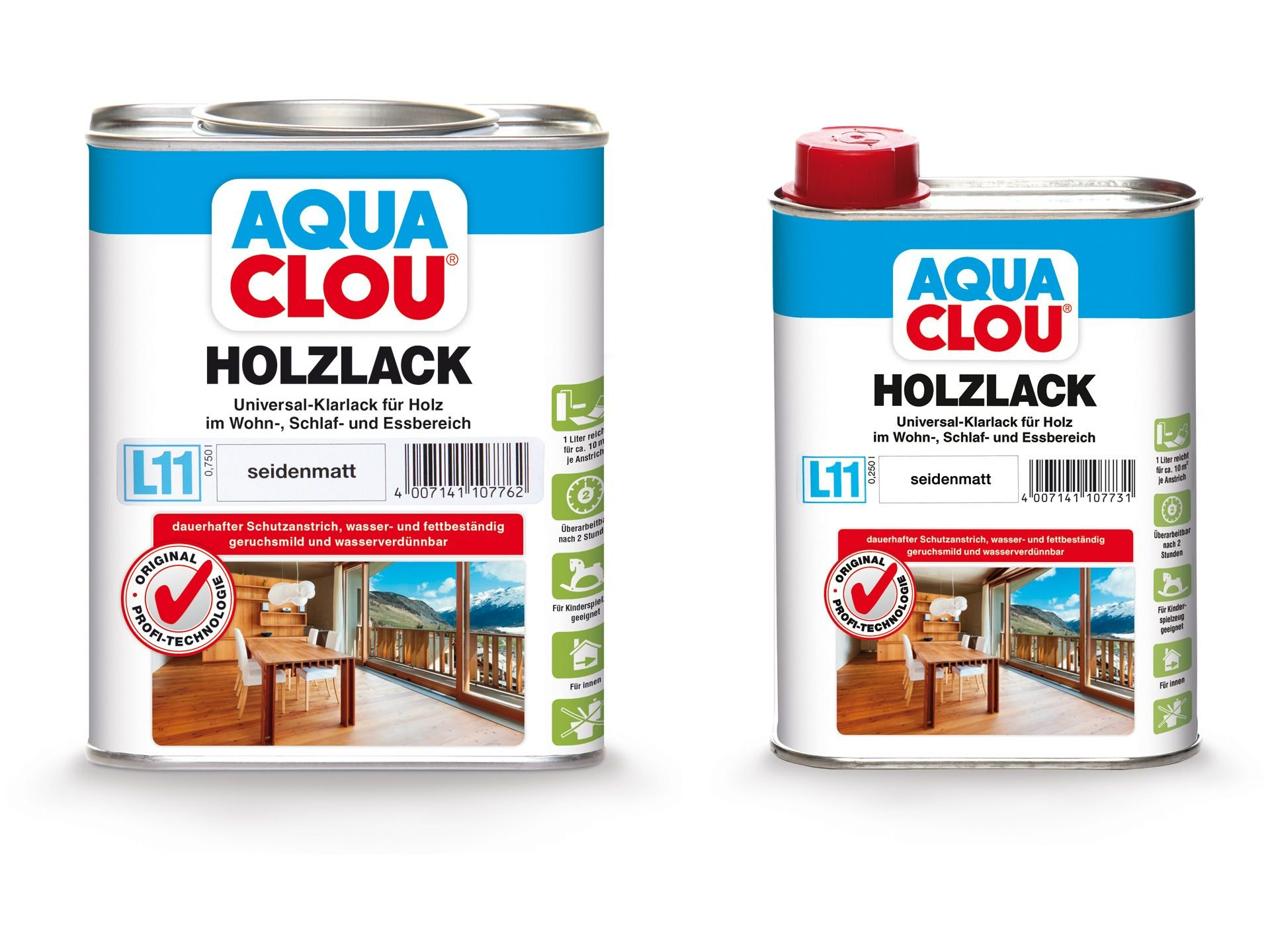 clou aqua holzlack protect l11 online kaufen modulor. Black Bedroom Furniture Sets. Home Design Ideas