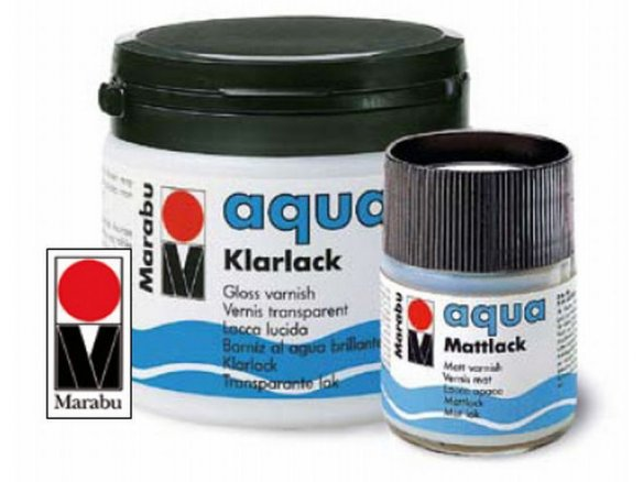 Marabu Aqua glass varnish, colourless