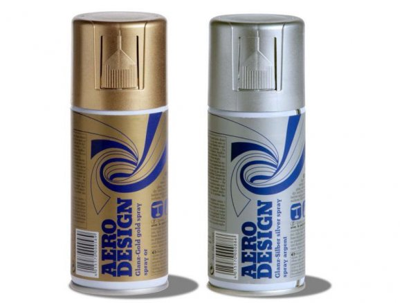 Aerodesign metallic spray paint