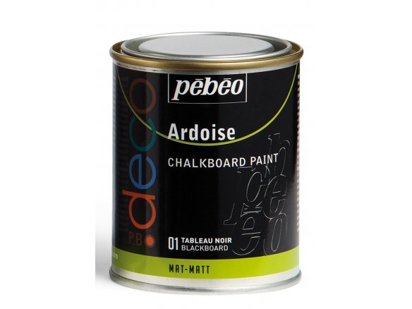 Pebeo Chalkboard Paint P Bo Deco Ardoise Metal Can 250 Ml Blackboard 501