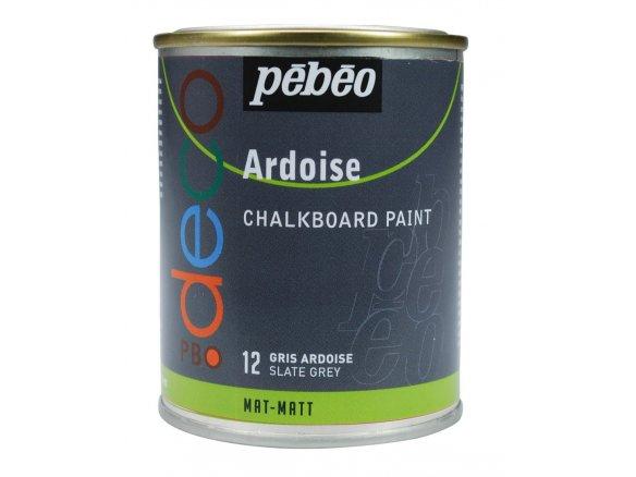 Pebeo Chalkboard Paint P Bo Deco Ardoise Metal Can 250 Ml Slate Grey 512