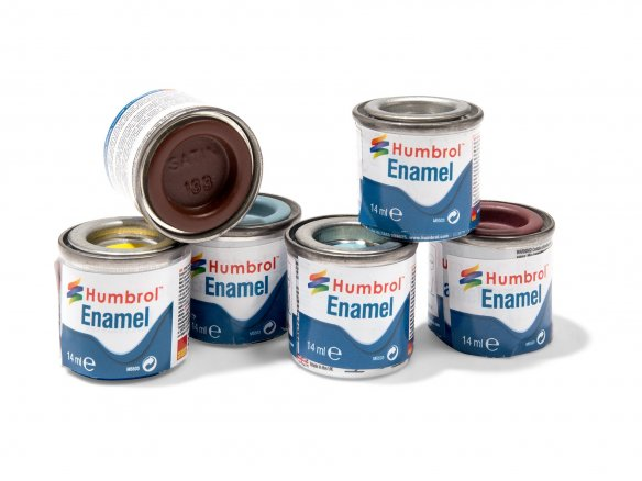 Humbrol model paint, semi-gloss
