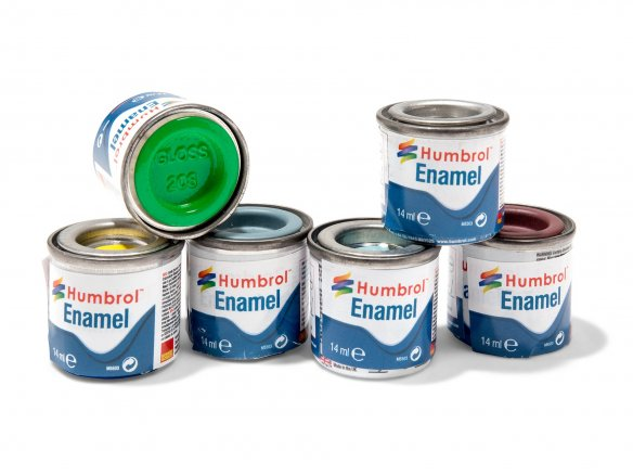 Humbrol model paint, glossy