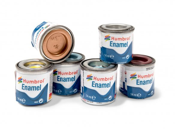 Humbrol model paint, metallic