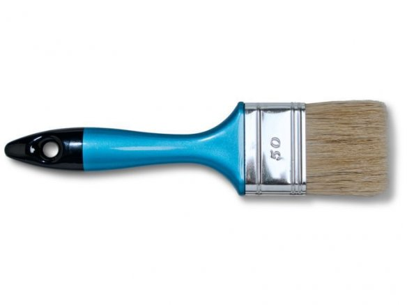 paintbrush, flat, natural bristles, thickness 6 (1160)