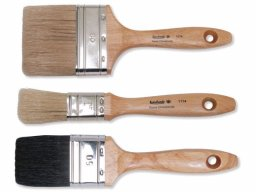 Paintbrush, flat, natural bristles, brush thickness 12 (1174)