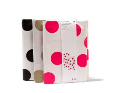 Paper Poetry flat bottom bag, dots, L