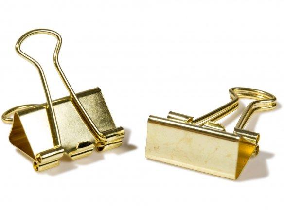 Foldback clips, gold