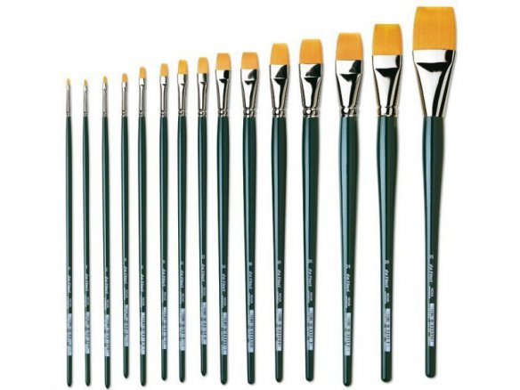 Da Vinci Nova oil/acrylic brush, flat