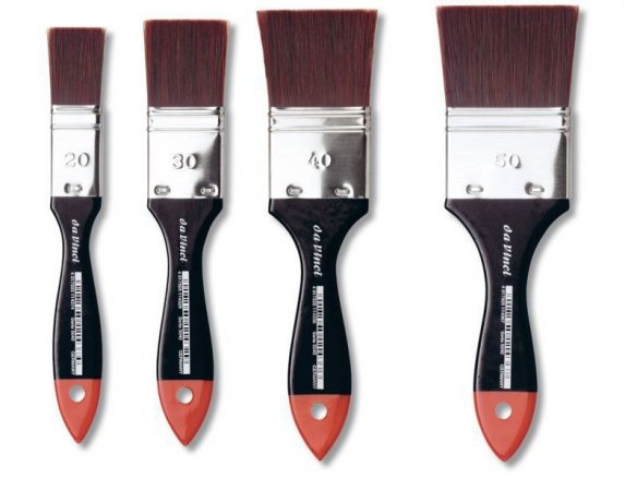 Da Vinci wide brush Cosmotop, red brown fibre