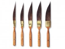 Pincel espada Da Vinci, mango marrón corto
