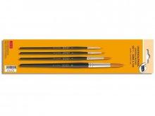 Universal brush set, synth., short handled