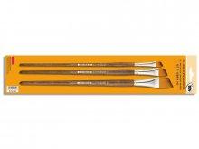 Oil/Acrylic Paint. Brush Set, synth., long handled