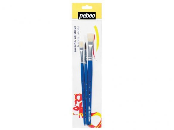 Pebeo child´s paintbrush set, short handle