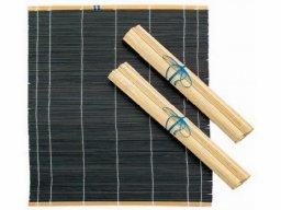 Estera de bambú para pinceles