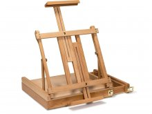 Tabletop easel, beechwood, with drawer