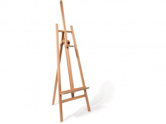 A-frame studio easel, beechwood, metal ratchet