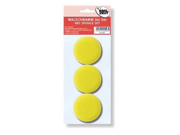 Set of 3 synthetic artist Sponges