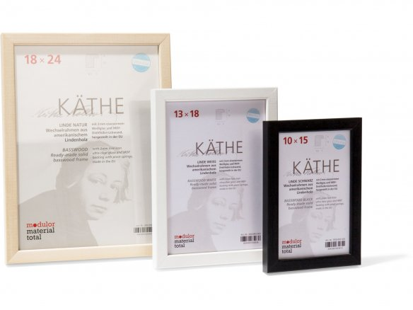 Interchangeable picture frame, wood, Käthe