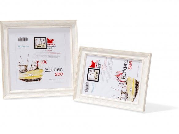 Interchangeable picture frame, wood, Hiddensee