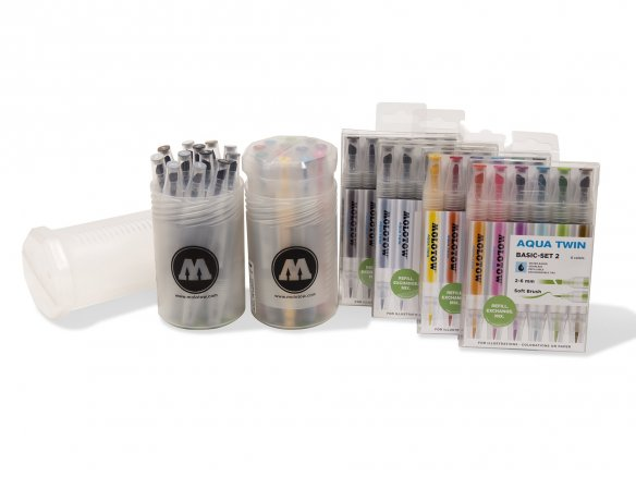 Molotow Aqua Twin marker sets