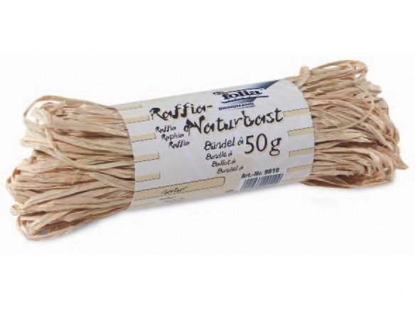 Natural raffia, coloured