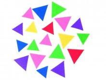 Filz Dreiecke selbstklebend, farbig